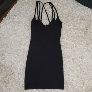 Topshop bodycon mini black dress